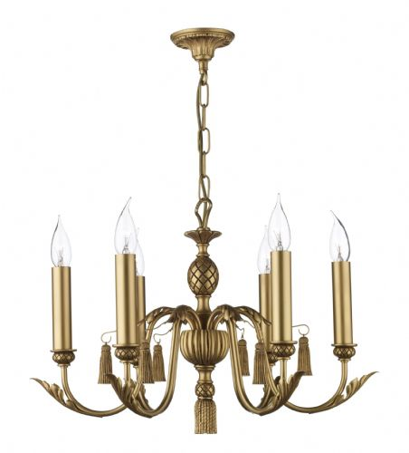 Classic 6-light Made in the Cotswolds Ceiling Light Antique Gold CL16